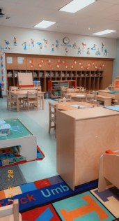 Photo of an empty preschool classroom
