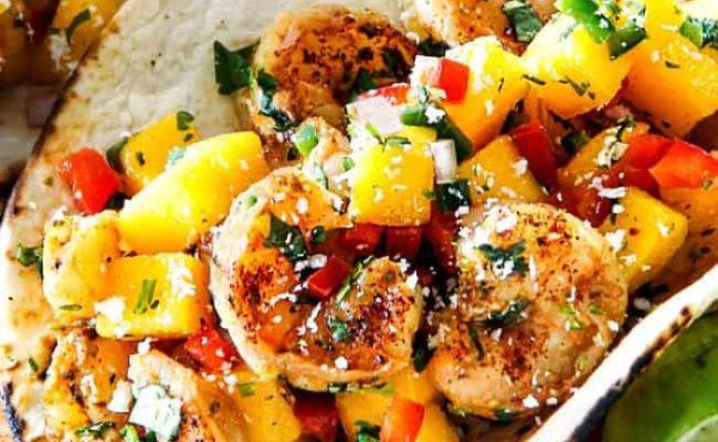 Cilantro Lime Shrimp Tacos With Mango Salsa Prep Ahead