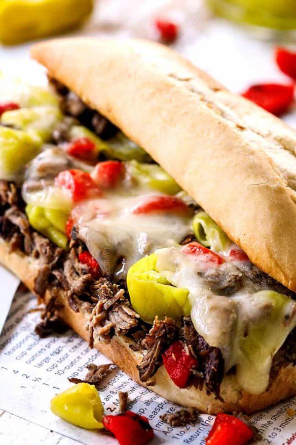 Crockpot Italian Beef Sandwiches + video! (make ahead