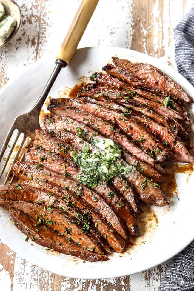 London Broil with Herb Butter (Juicy tender & flavorful ...