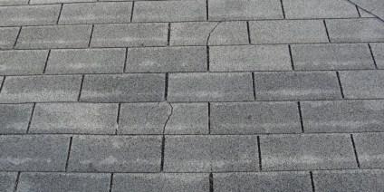cracked asphalt shingles