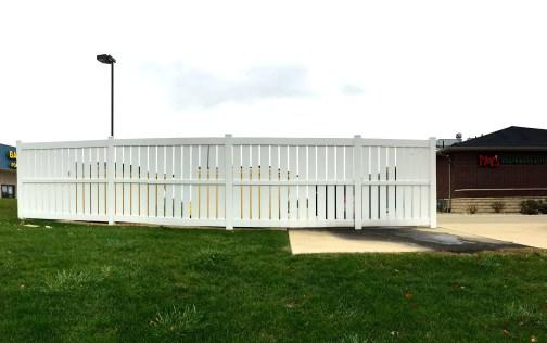 White Vinyl Fence install