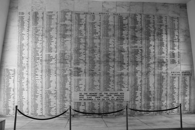 Pearl Harbor Hawaii USS Arizona Memorial Wall with Names Carltonaut's Travel Tips