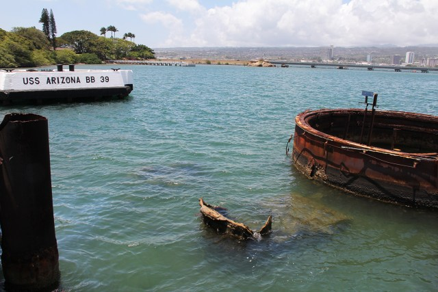 Pearl Harbor Hawaii USS Arizona Memorial wreckage Carltonaut's Travel Tips