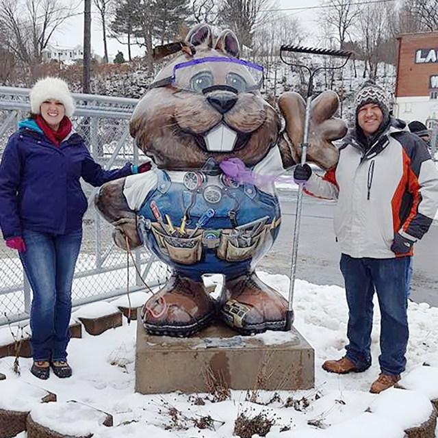 Walking tour to see Phantastic Phil statues around Groundhog Day in Punxsutawney, Pennsylvania Carltonaut's Travel Tips