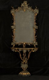 9860 rustic console and mirror Web
