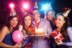 52892516 - group of young people on birthday party