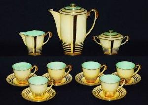 PARISIENNE coffee set in decoration pattern number 4077(1)