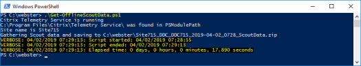 Figure 1 - Running the script on a DDC