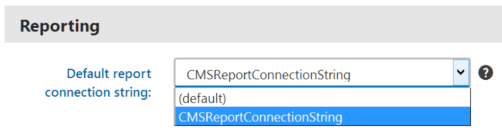 Select the read-only connection string