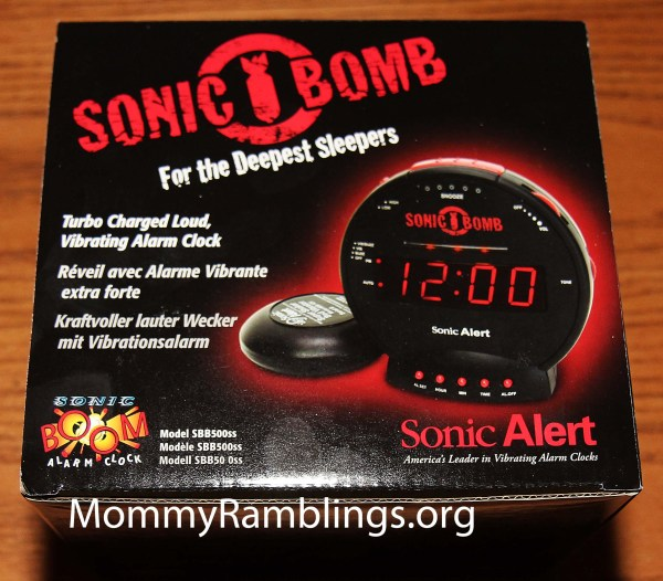 Sonic Bomb With Super Shaker Alarm Clock & Give- Ended Mommy Ramblings