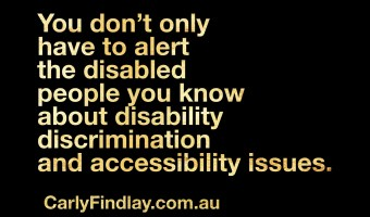 On alerting disabled people to disability issues online