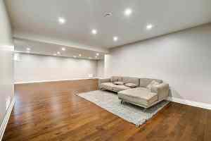 basement renovation finished