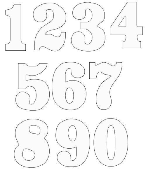 Number Templates 1 10 Ukran Agdiffusion Com Free Printable Carlynstudio Us