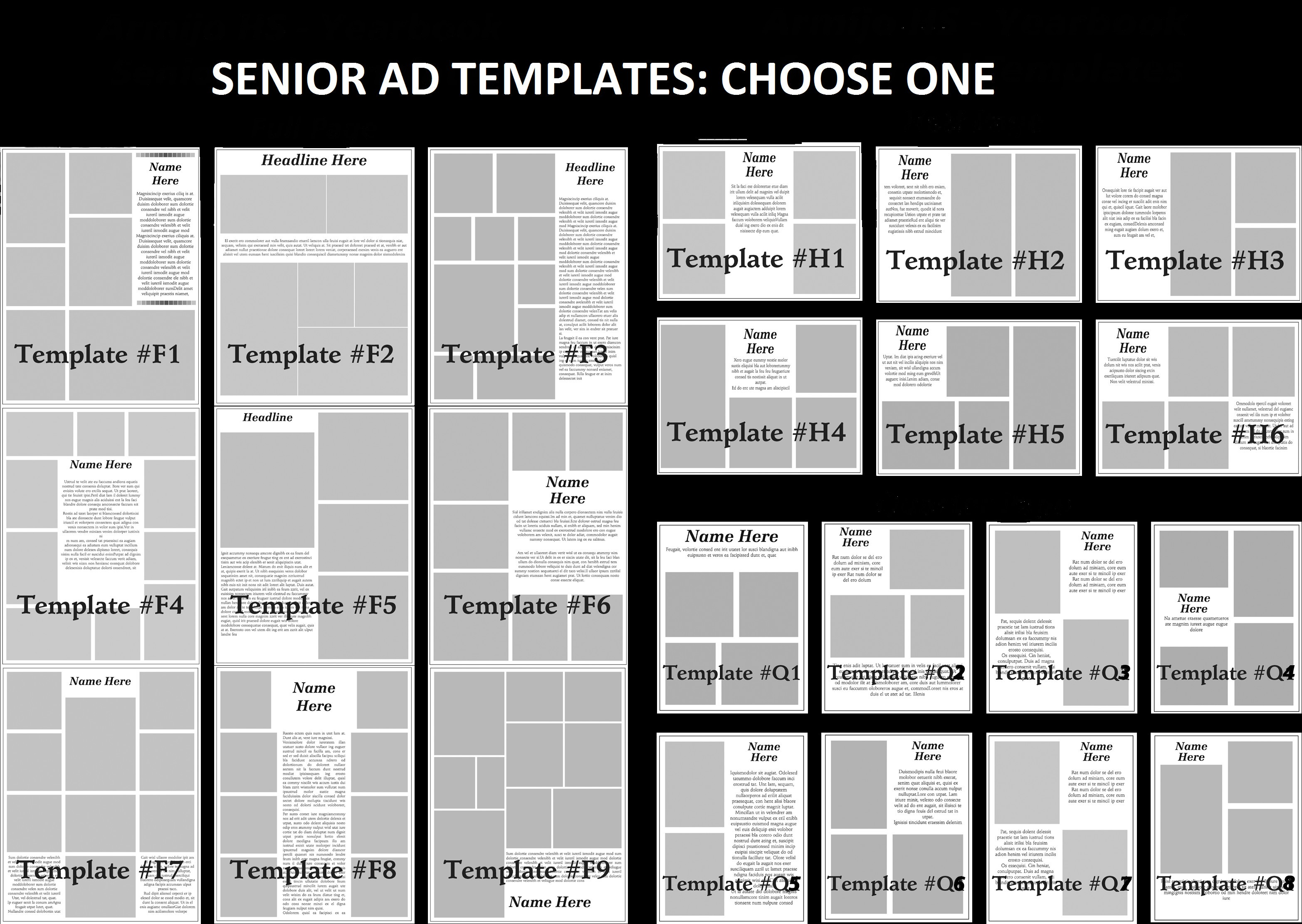 Yearbook Ad Templates Free
