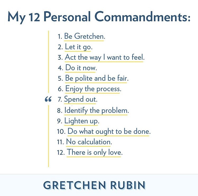 Personal commandments