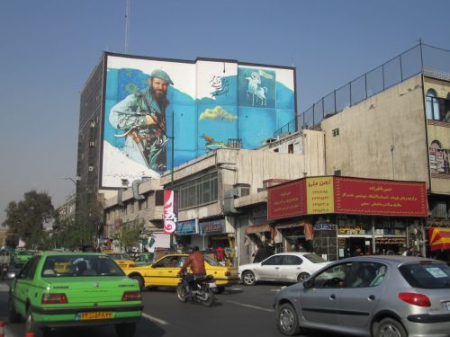 The streets of Tehran, looking deceptively calm!