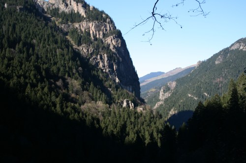Looking across to Sumela Monastery