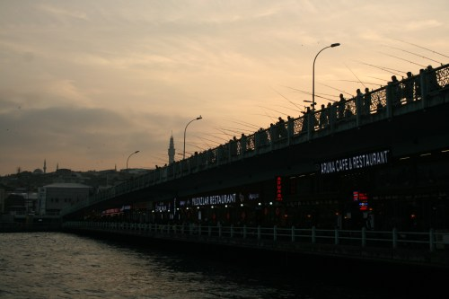 Galata Bridge at dusk