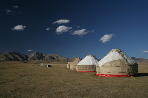 Yurt stay on the shore of Song-Kol, Kyrgyzstan