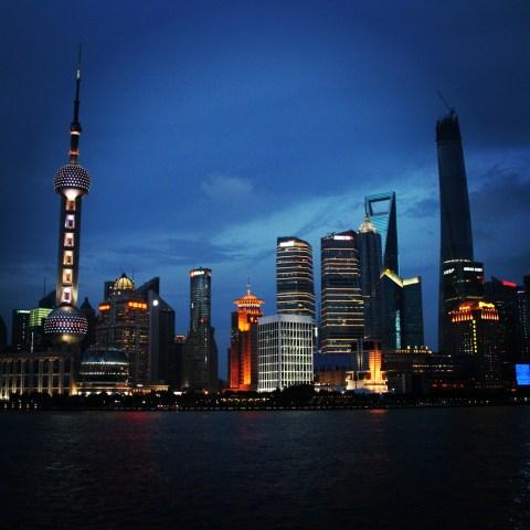 Shanghai Skyline - first stop!