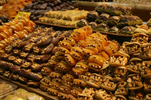 Delicious treats at the Spice Bazaar