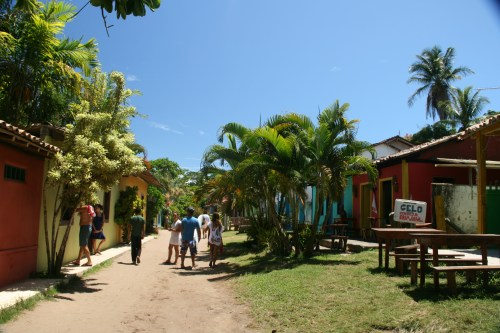 The 'main' street in Caraiva