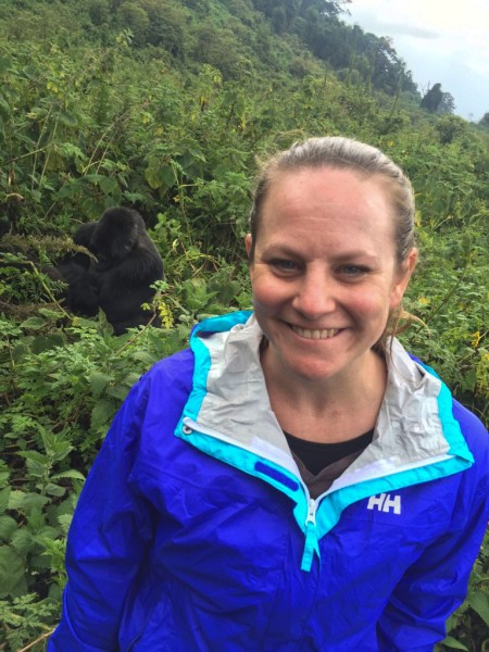 Yes, that's me with a Silverback in the background - magical!!