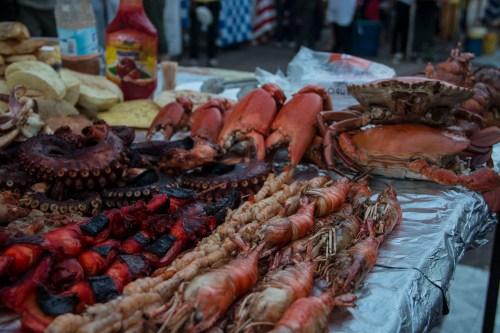 Seafood at Forodhani Gardens