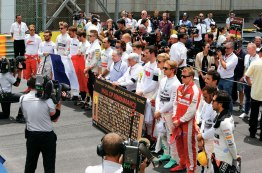 Toda a Fórmula silenciou por um minuto no grid em homenagem às vítimas dos recentes atentados terroristas em Paris