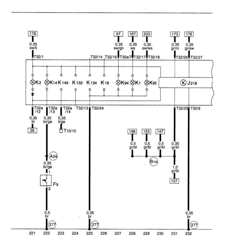 Блок панели приборов, комби-процессор в блоке панели