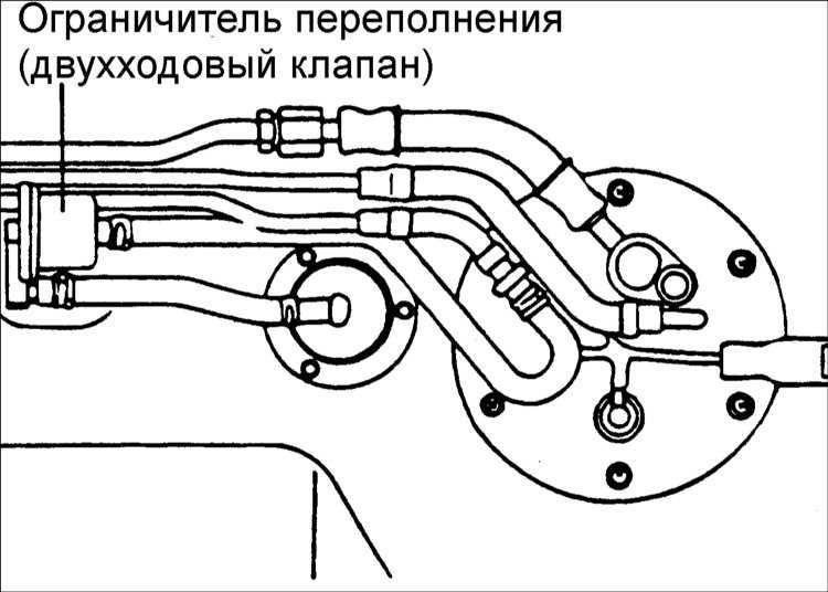Замена ограничителя переполнения (двухходового клапана