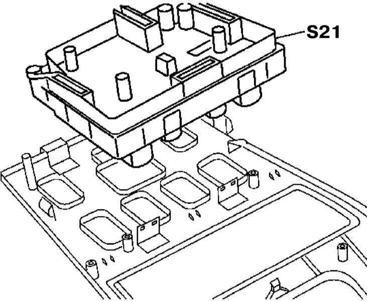 Снятие и установка группы переключателей центральной