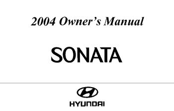 Hyundai Sonata Owners Manual 2009