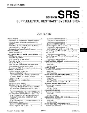 2007 nissan sentra service manual