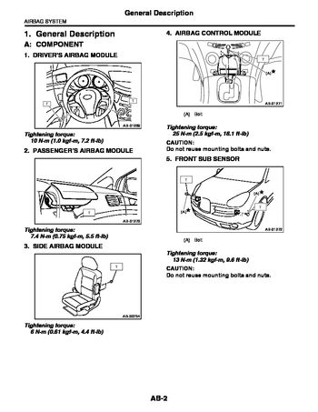 Car Complaints: 2007 Subaru Outback Service Manual