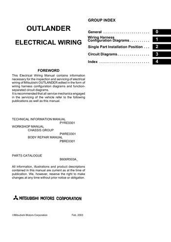 2006 mitsubishi outlander  electrical wiring diagram  pdf
