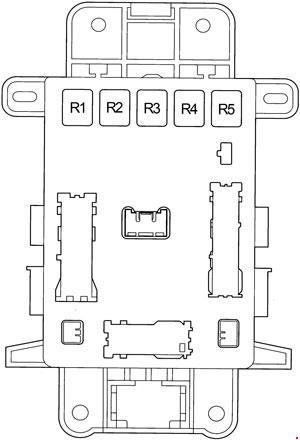 Toyota RAV4 Fuse Box Diagram (2000-2005; XA20