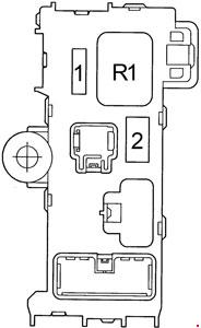 Toyota Corolla Fuse Box Diagram (1995-2002; E110