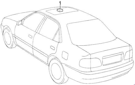 Toyota Corolla Fuse Box Diagram (1995-2002; E110