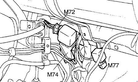 Diagram of fuses and relays Hyundai H100 / Porter (AH