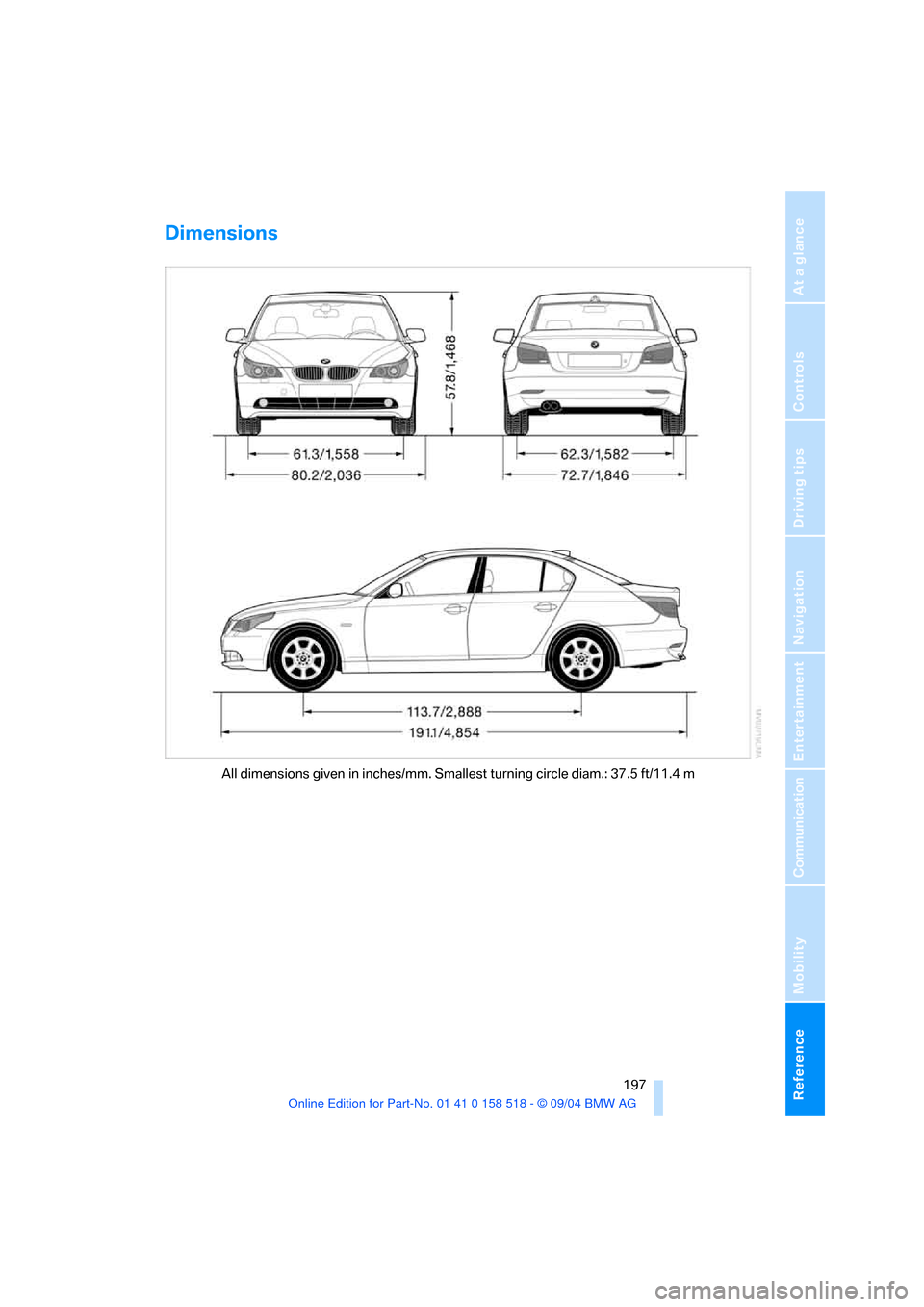 BMW 525I SEDAN 2005 E60 Owner's Manual (221 Pages), Page