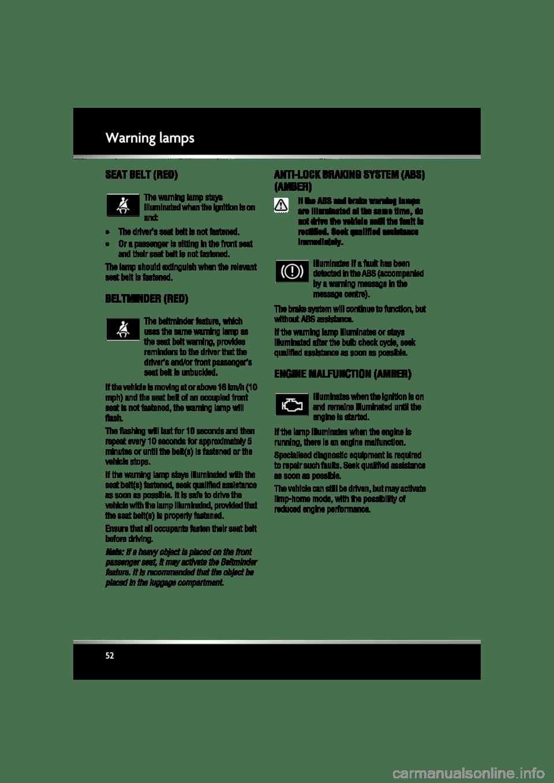JAGUAR XF 2011 1.G Workshop Manual (225 Pages)