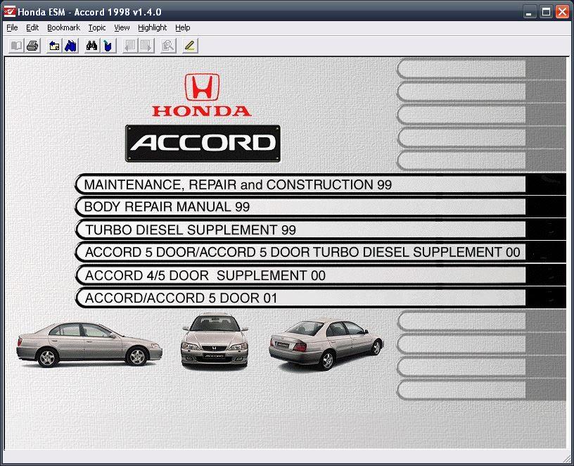 01 Honda Accord Repair Guides