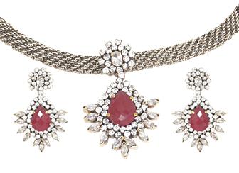 Amazing Pink Victorian Jewelry Set
