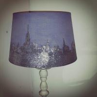 DIY Glitter New York Skyline Lamp Shade
