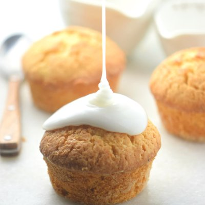 Lemon Muffins with Lemon Glaze