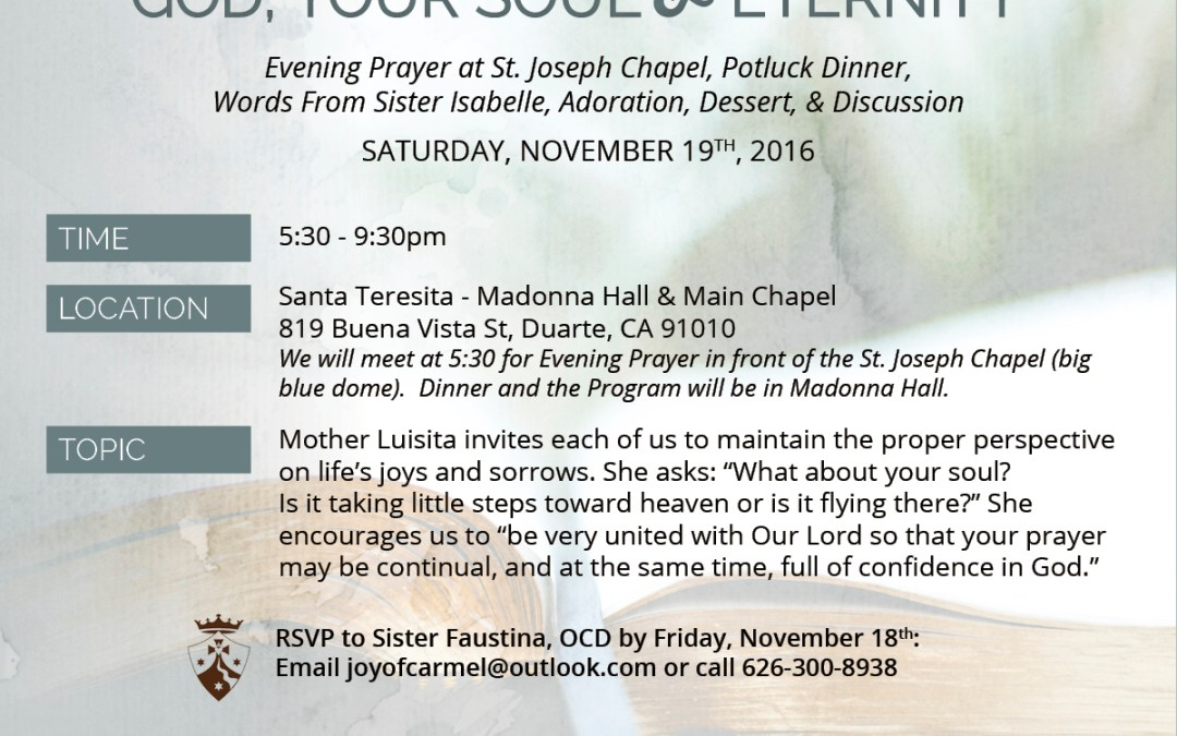 November 19th, 2016 | Handmaidens Potluck Dinner