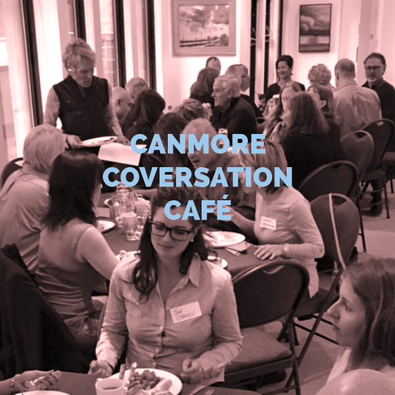 photo of people engaged at the canmore conversation cafe