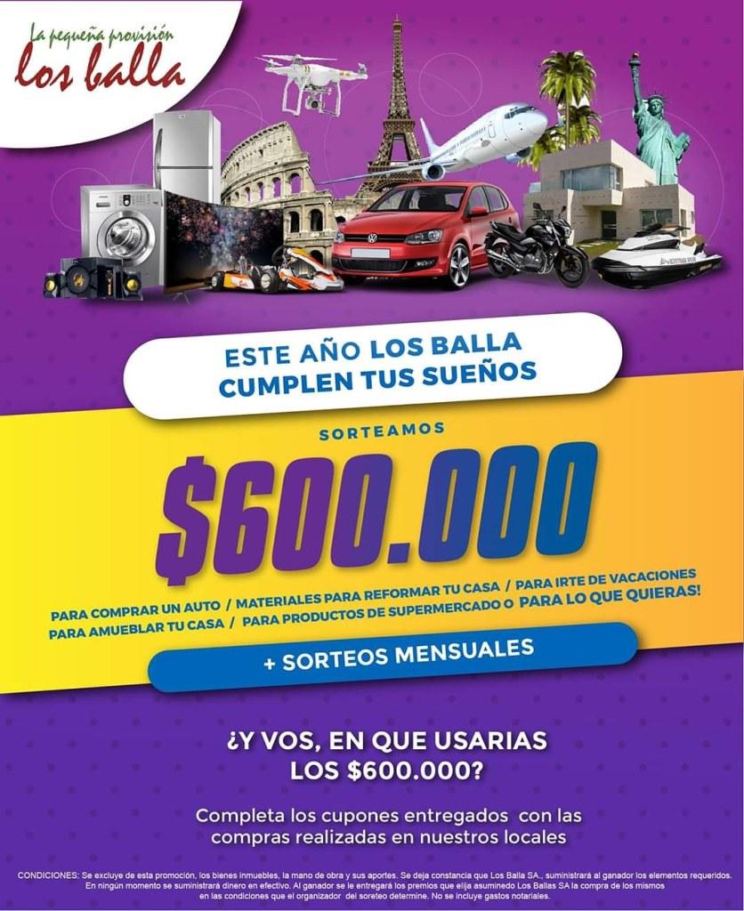 Los Balla sortea $ 600.000 - Carmelo Portal